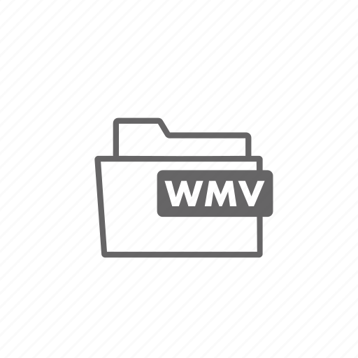 file, filename, film, folder, format, video, wmv icon