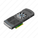 accessories, computer, equipment, internet, part, video card icon