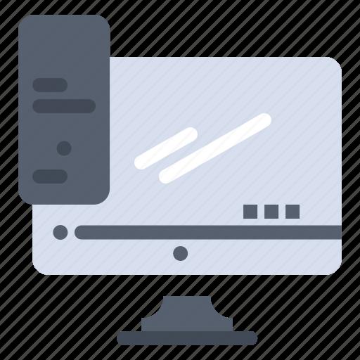 computer, device, monitor, pc, server icon