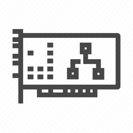 computing, lan, lan card, network, sound card icon