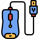 computer, digital, mouse, parts, pointer, technology, tools icon