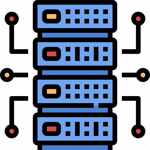 computer, digital, hosting, parts, server, technology, tools icon
