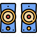 audio, electronic, sound, speaker, technology icon