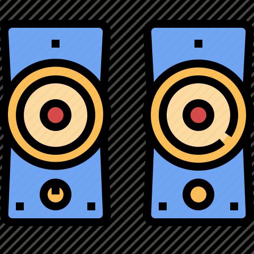audio, electronic, sound, speaker, technology icon