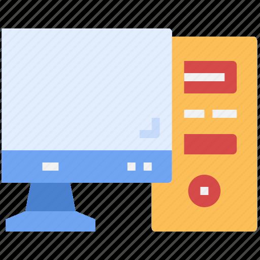 computer, desktop, digital, moniter, parts, screen, technology icon