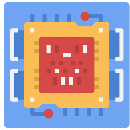 chip, computer, cpu, digital, parts, technology, tools icon