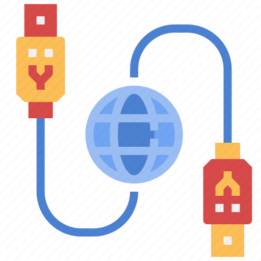cable, computer, connection, parts, technology, usb icon