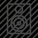 sound, media, computer, speaker, social, music, audio icon