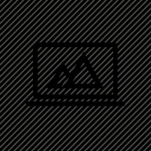 laptop, line, pc, screen, wallpaper icon
