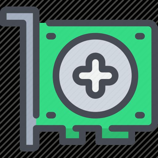 card, computer, device, graphic, hardware icon