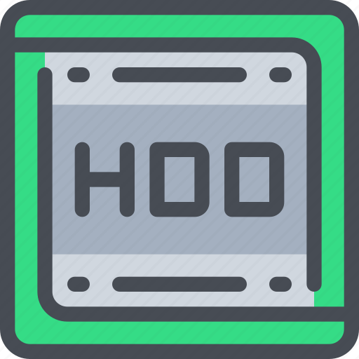 computer, device, hardware, hdd icon