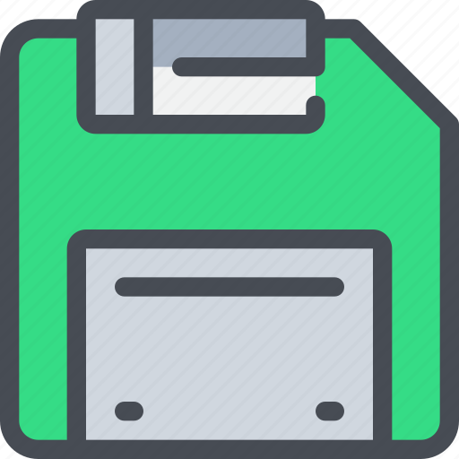 computer, device, disk, save icon