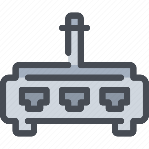 computer, connect, connector, device, network, router icon