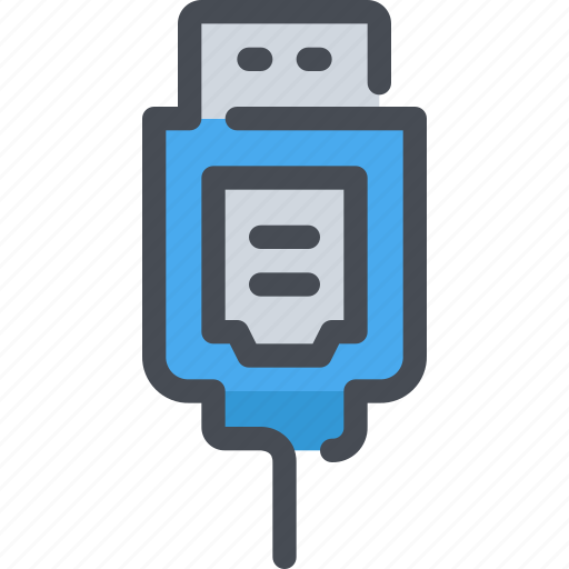computer, connector, device, hardware, usb icon