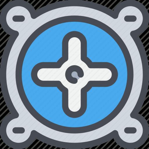computer, device, fan, hardware icon