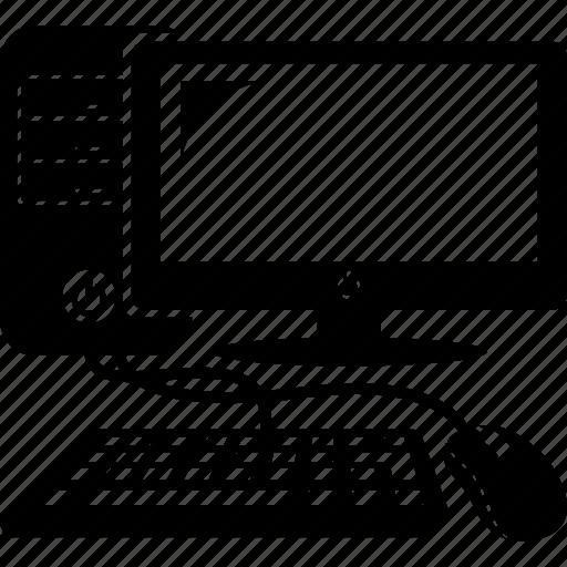 computer, desktop, keyboard, monitor, mouse, pc, screen icon