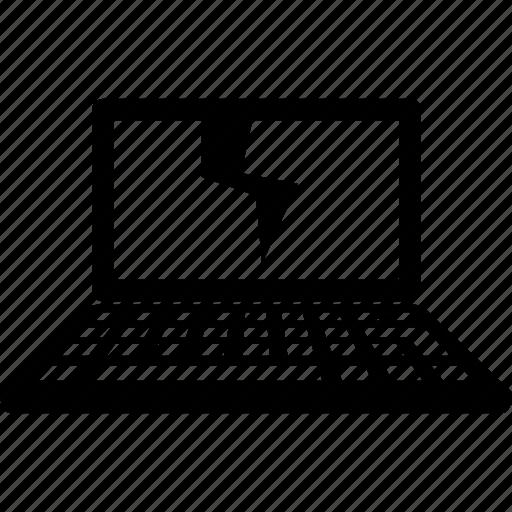 bad, broken, laptop, notebook, repair icon