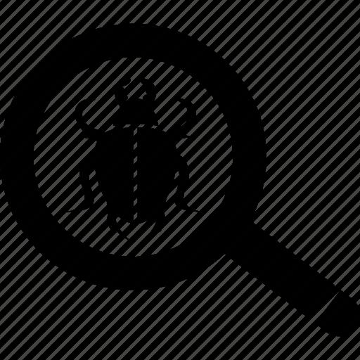 antivirus, explore, magnifier, search, virus icon