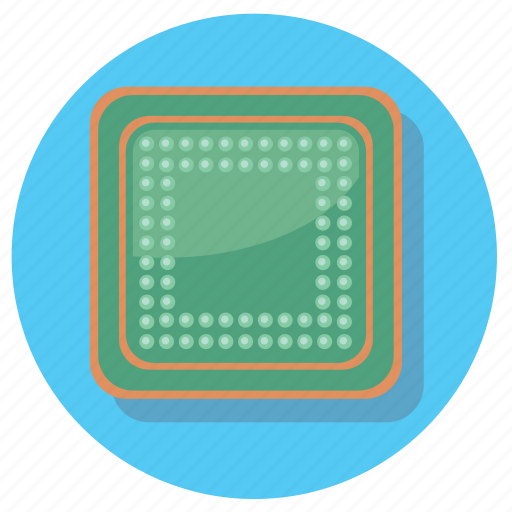 chip, computer, device, pc icon