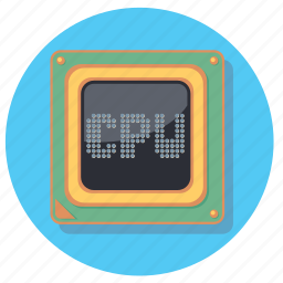 computer, cpu, pc, processor icon