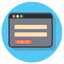 log, account, in, profile, user