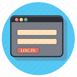 account, in, log, profile, user icon