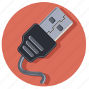 cable, connector, plug, power icon