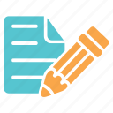 document, edit, list, office, paper, pen, text icon