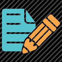 document, edit, list, office, paper, pen, text icon