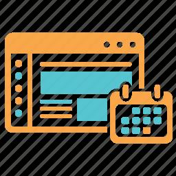 booking, date, deadline, design, development, project icon