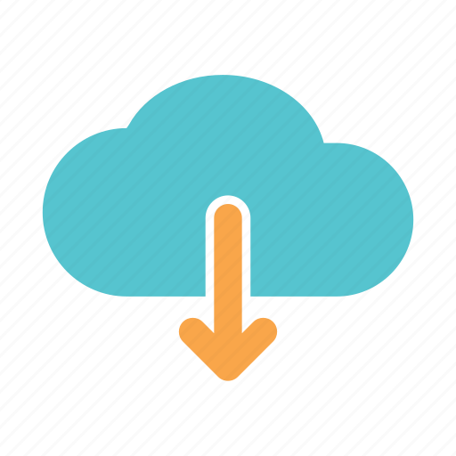 cloud, computer, document, download, files, server, web icon