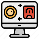 business, computer, money, monitor, online, technology, transfer icon