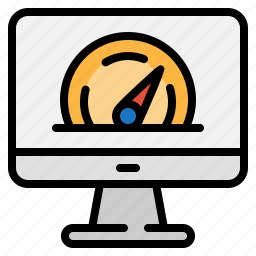 computer, monitor, optimization, technology icon