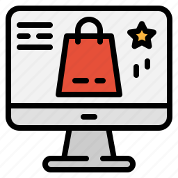 bag, computer, marketing, monitor, online, shoping, technology icon
