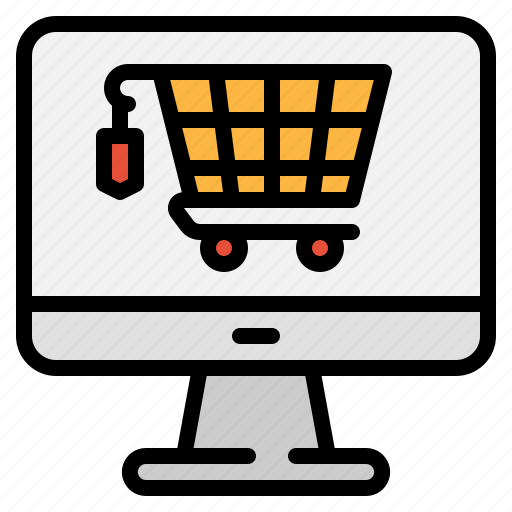 cart, computer, ecommerce, marketing, online, shipping, technology icon