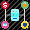 computer, data, database, hardware, server, storage, technology icon