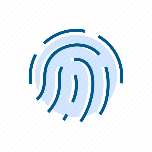 fingerprint, ptotection, scan, security icon