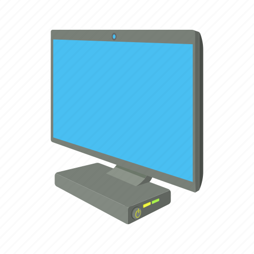 cartoon, computer, display, pc, screen, technology, wide icon