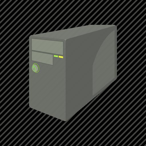 cartoon, case, computer, equipment, server, system, technology icon