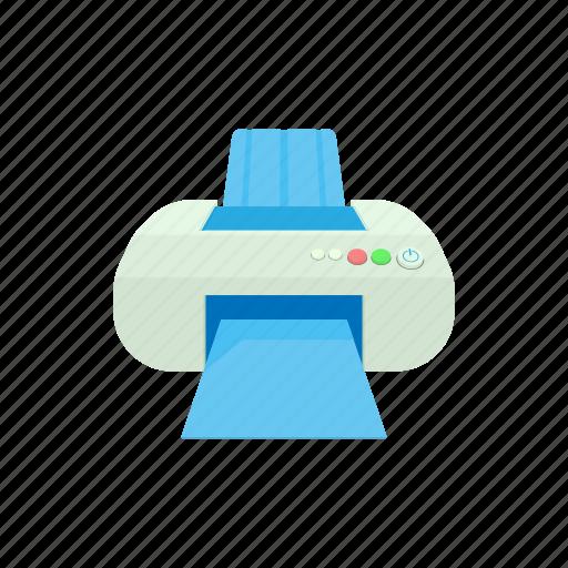 cartoon, machine, office, paper, print, printer, technology icon
