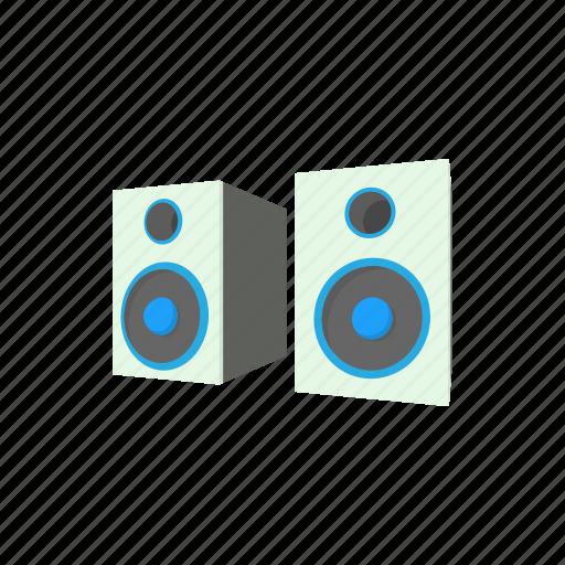 audio, bass, cartoon, equipment, music, sound, speaker icon