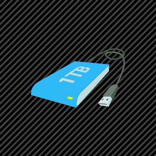 cartoon, computer, digital, disk, equipment, technology, usb icon