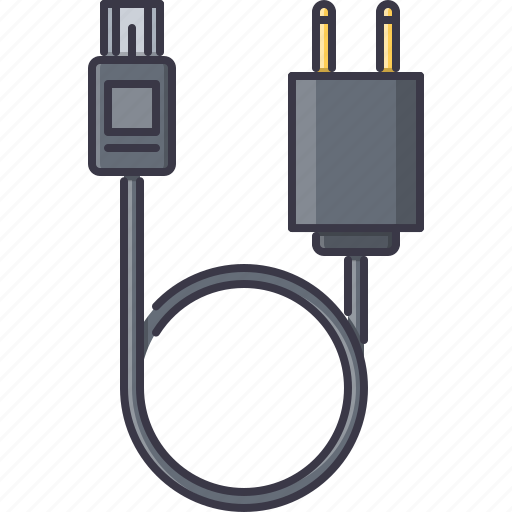 cable, charger, computer, mini, technology, usb, wire icon
