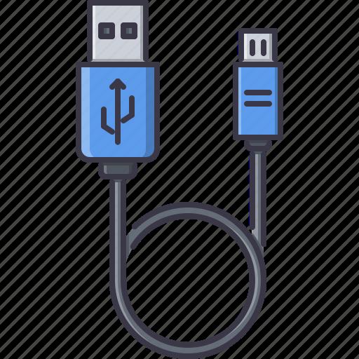 cable, computer, micro, mini, technology, usb, wire icon