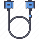 cable, computer, information, technology, vga icon
