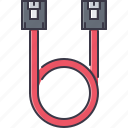 cable, computer, sata, technology, wire icon