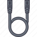 cable, computer, cord, patch, technology, wire icon