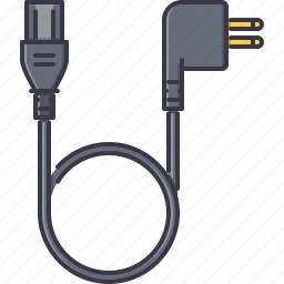 cable, computer, information, power, technology icon