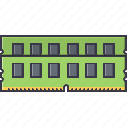 access, computer, memory, ram, random, technology icon