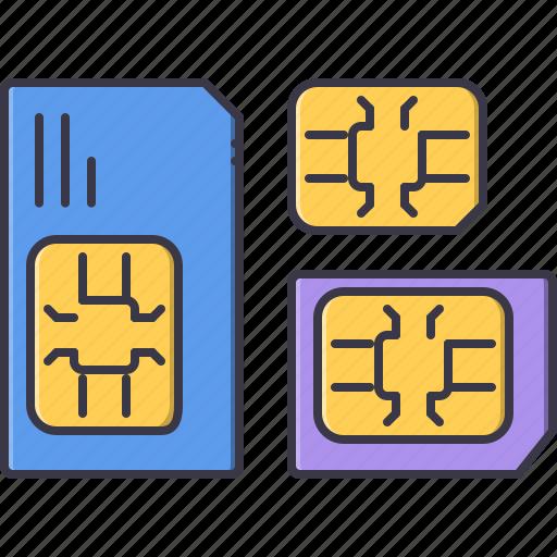 card, computer, data, information, sim, technology icon
